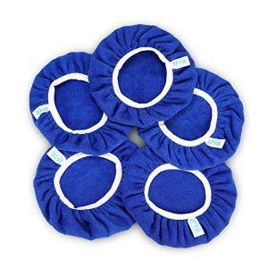 SPTA 5 Pièces Bonnets de lustrage Bonnets en Microfibre de polissage Ensemble de bonnets de polissage polissage polir bonnets électrique pour 230mm-250mm Polisseuse-lustreuse orbitale (SPTA EU, neuf)