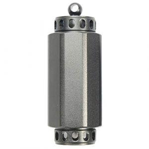 Toygogo Porte-clés Pilulier Vide Mini-bouteille en Alliage D'aluminium, étanche, Pour Camping, Voyage - L Gray (Amateur players, neuf)