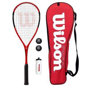 Wilson Kit squash avec raquette, balles, gourde et sac de transport (Racketworld, neuf)