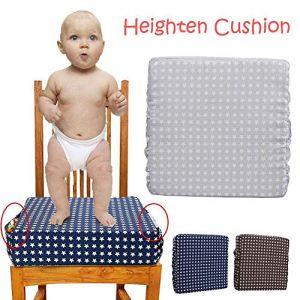 Coussin rehausseur robuste démontable Harnais réglable pour bébé Infant Coussin Rehausseur Chaise pour Chaise de Salle à Manger Enfant - Bleu (Class-Z, neuf)