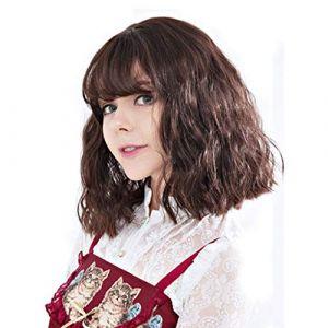 Perruque, ensemble de coiffures complètes de cheveux courts avec coiffures complètes pour cheveux courts (Couleur : Chocolat Couleur) (CanMaoWu, neuf)
