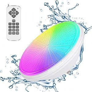 Lampes de piscine LED PAR56 - Éclairage submersible pour piscine RVB - IP68 - Étanche - 58 W 12 V AC/DC - Éclairage sous-marin (Amris, neuf)