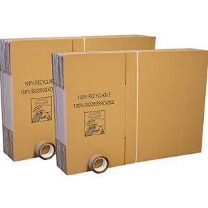 Lot de 40 cartons déménagement standard + 2 adhésifs 100m (Carton Market, neuf)