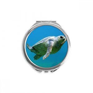 DIYthinker organisme tortue marine océan miroir animal ronde maquillage de poche à la main portable 2,6 pouces x 2,4 pouces x 0,3 pouce Multicolore (bestchong, neuf)