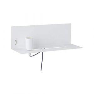Paulmann 78915 Applique Devara avec étagère max. 40watts Lampe de lecture murale Blanc Liseuse Métal, lampe murale E27 (eRetail France, neuf)