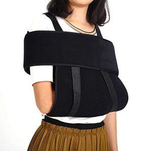 Support médical pour bras- Sangle pour bras fracturé avec attelle d'immobilisation pour épaule et bras médical réglable (L) (Pongnask, neuf)