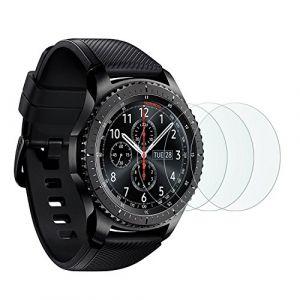 [3 Pièces] Film Samsung Galaxy Watch 46 mm/Gear S3 Frontier/Classic OMOTON Vitre Verre Trempé Protection DÂ'écran 2.5D Film Protecteur [9 H] (OMDirect, neuf)