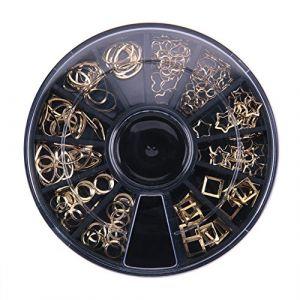 UEB Ensemble Décorations Vernis À Ongles Art Sur Ongles En 3D Paillettes Perles Métallique Manucure Dans Une Boîte Ronde (La Cabina, neuf)