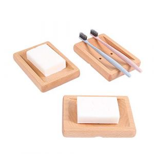 Boîte à savon boîte à savon en bois porte-savon 2 pièces boîte à savon environnement naturel (RONG XING TOOTHBRUSH, neuf)