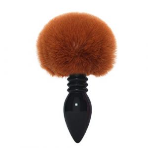 Brown Fluffy Rabbit Bunny Gourd forme Tail an ~ AL Plug pour vous Glamour Female Masquerade Props 1pcs Set Massage Cosplay Props (tyufgt6u, neuf)