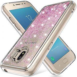 LK Coque pour Samsung Galaxy J2 Pro 2018, Mince Brillant Bling Paillettes Coeur Mignon 3D Quicksands Silicone Anti-Rayures Antichoc Coque de téléphone pour Samsung J2 Pro 2018 - Or Rose (MascheriLifeEU, neuf)
