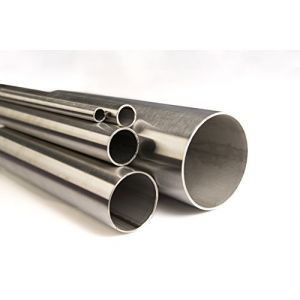 Acier inoxydable V2A K240poli Tube Diamètre 12x 1,5mm jusqu'à Diamètre 114,3x 2mm Tube rond en acier inoxydable, Tube à 2mètres (2000mm) Longueur au choix, Ø 42,4 x 2mm (Länge 1000mm), 1 (steelando, neuf)