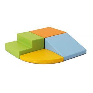 IGLU XL Modules de Motricité Modules en Mousse Blocs de Construction Jouets éducatifs 4 pièces Antidérapant (IgluSoftPlay, neuf)