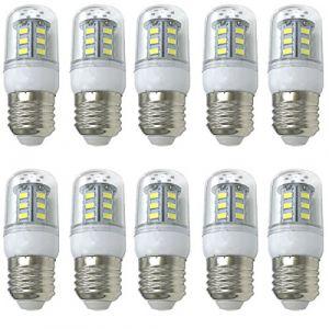 Aoxdi 10X Ampoules LED E27 Mais Lampe 4W, Blanc Froid, 24 SMD 5730 LED Lampes, E27 LED Lumineux Ampoule AC220-240V (Aoxdi, neuf)