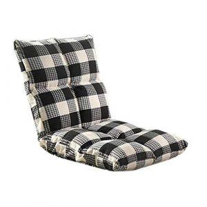 Chaise de méditation, chaise réglable pliante, chaise simple tatami, plancher avec dossier chaise japonaise fenêtre baie vitrée, chaise de jeu canapé paresseux (Color : Noir) (DuoBaiHuoDian, neuf)