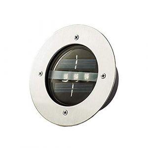 WXL Solaire Spot Encastrable Exterieu, 4 Installé À L'extérieur Étanche Cour Sol Spot LED Pelouse Lampe Escalier Jardin Lampadaire Extérieur Lumière Souterraine (Heaftking, neuf)