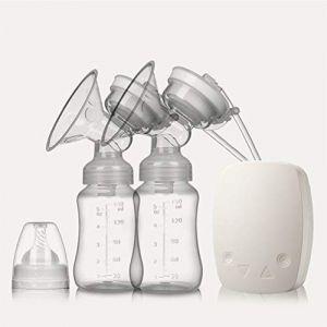 Améliorer Tire-lait électrique Double, Silencieux Pompe d'allaitement Double Sans BPA,White (SMS ShangHang, neuf)