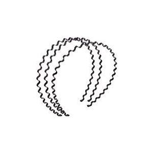 Jiahao 3pcs simple Unisexe Printemps Noir Wave ondulé Métal Bandeau Cheveux Fille Homme Femme Bandeau Bandeau élastique accessoire de couple amoureux Cadeau (JIAHAO, neuf)