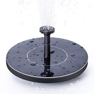 Ankway Fontaine solaire, Mignon Bain d'Oiseau pompe à eau solaire électrique, Jardin Autoportant 1.4W Panneau Solaire Kit Pompe à eau, Pompe Extérieure Arrosage Submersible (Circle) (Shenweirui, neuf)