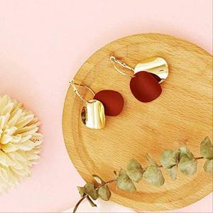 Boucles d'oreilles vacances gland rouge perle boucles d'oreilles déclaration géométrique boucles d'oreilles cadeau boucle d'oreille vintage fleurs amour pour les femmes13 (Graceguoer, neuf)