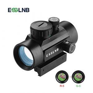 ESSLNB Point Rouge 30mm Rouge/Vert / Bleu 3 Réglages de la Luminosité Portée de la Carabine pour la Chasse Spotting Positionnement de la visée pour Rail de Weaver/Picatinny 11mm / 22mm (ESSLNB uk, neuf)
