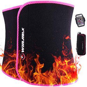 Win.max Ceinture Abdominale, Ceinture de Sudation pour Homme et Femme, Ceinture de Sudation Abdominale en Néoprène,Soutien du Dos (Rose, L) (LiuLianSheng, neuf)