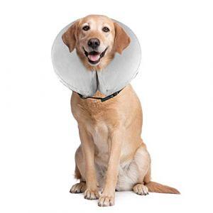 PET SPPTIES Collier Gonflable de Récupération Confortable Collerette de Protection pour Chien Chats, Ajustable, Lavable PS005 (M/Grey) (LIWEI COMPANY, neuf)