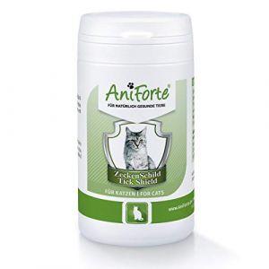 AniForte Tique Bouclier - Anti Tiques 60 Capsules pour Chats, Anti-parasitaire, Naturel, Tuer, Prévenir et Contrôler (AniForte, neuf)