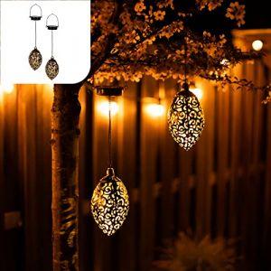 Gadgy Lantere Solaire Exterieur a Suspendre   Jeux de 2 Lampe Solaire   Deco Jardin Exterieur   Lampadaire Solaire Exterieur   Lanterne Marocaine   Suspension Solaire   Jardiniere Suspendue (Gadgysales, neuf)