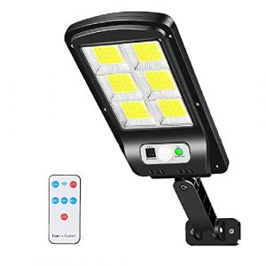 Lampe Solaire Extérieur, Lenlun 6000LM LED Réverbères Lumière Solaire Projecteur Détecteur de Mouvement 3 Modes IP67 étanche pour Jardin, Garage, Cour, Escalier, Patio (1-Pièce) (Lenlun, neuf)