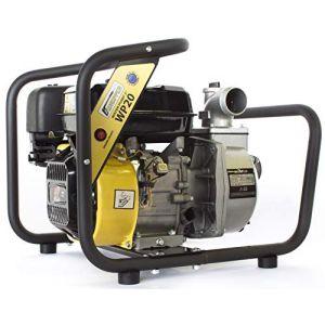 ? WASPPER WP20-P ? Pompe à eau propre/eau usée (solide jusqu'à 5mm) robuste et portative avec un débit de 21 000 l/h ? Hauteur de refoulement de 40 m ? moteur à essence 4 temps de 3600 tr/min (WASPPER, neuf)