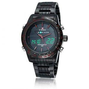 Montre LED Chronomètre analogique étanche à quartz à chronographe à quartz, LED (AiSiWeiDianZi, neuf)