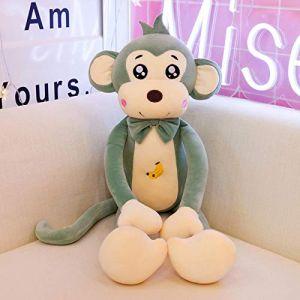 Peluche jouet singe lit dormir mignon mignon enfants chiffon poupée apaiser poupée oreiller cadeau d'anniversaire-1_85 cm (lizhaowei531045832, neuf)