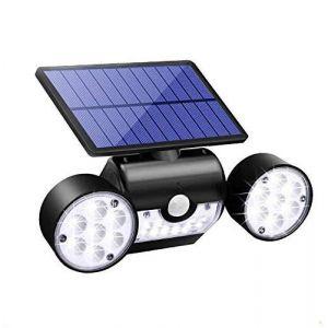 Lampe Solaire Ultra Puissante 30 LED Etanche IP65 Eclairage Extérieure,Réglable,Détecteur de Mouvement,Panneau Solaire Amélioré,pour Jardin,Extérieur,Chemin,Allée,la Goupille Interrupteur (Standarder, neuf)