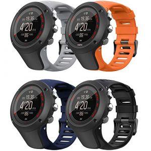 YPSNH Compatible pour Suunto Ambit 3 Bracelet en Caoutchouc Souple de Remplacement Bracelet de Montre Respirant pour Suunto Ambit 1/2 / 2S / 2R / 3 Sport / 3 Run / 3 Peak (YPSNH, neuf)