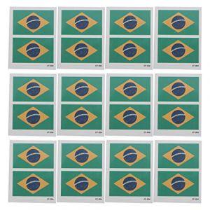 BESPORTBLE 30 Pcs Pays Drapeau Autocollants De Tatouage Brésil Autocollant Coupe Du Monde Autocollants De Tatouage Corps Visage Autocollant Pour Jeux Olympiques Sports Coupe Du Monde Faveurs De Fête (Vinumar, neuf)