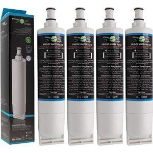FilterLogic FFL-190W | Filtre à eau compatible avec Whirlpool SBS200, 484000008726 - SBS002, 481281729632 - SBS001, 481281728986 - USC009/1 Cartouche filtrante réfrigérateur frigo américain (Lot de 4) (ISB Watertec, neuf)