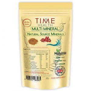NOUVEAU: Capsules multi-minéraux - complément alimentaire quotidien d'origine naturelle et à base de plantes - au moins 100% de toutes les vitamines quotidiennes (180 capsules - poche) (Time Health, neuf)