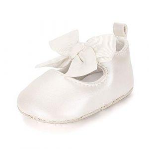 ESTAMICO Chaussure bébé Premier Pas Ballerines bébé Fille,Beige 0-6 Mois (Lacofia, neuf)