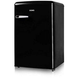 Domo Réfrigérateur Table top Bar Vintage | Look Rétro | Style année 50 | Classe A++ | Capacité 93L + 13L soit 106L | Charnière à droite (Noir) (Pepites Du Web, neuf)