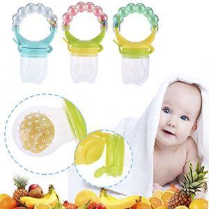 Sundautumn Sucettes Tétine pour Bébé - Tétine à Fruit Forme Cloche Couleur Aléatoire Pour bébé 4 Mois - 3 Ans (Taille L) (Obeer, neuf)