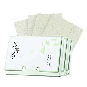 Papier buvard de contrôle d'huile de conception portative, Senteur de thé vert, 300 feuilles (Koala Superstore EURO, neuf)