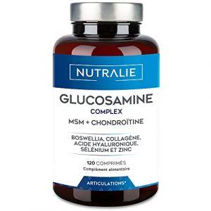 Glucosamine, Chondroïtine, MSM et Collagène | Maintenir des Os Normaux avec la Glucosamine, Chondroitin, le MSM, Collagène, Acide Hyaluronique, Boswellia, Sélénium, Zinc | 120 Comprimés Nutralie (AUDENTIS, neuf)