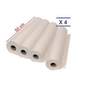 MFB Provence® - Drap d'examen 50 cm - ouate - blanc protection épilation - 4 rouleaux (MFB Provence, neuf)