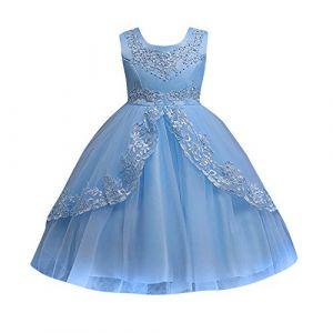 12shage Filles Robe De Princesse Fille Arc Tutu Jupe Robe De Mariée (12shage, neuf)