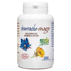 Bourrache-Onagre Bio - 503 mg - 200 capsules marines (123PLANTES, neuf)