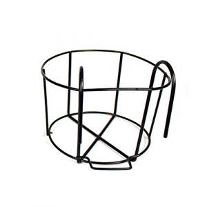 Support de Pot de Fleurs Rond en Fer à Suspendre pour Balcon, intérieur ou extérieur, Noir, Taille M (Sparkyun2017, neuf)