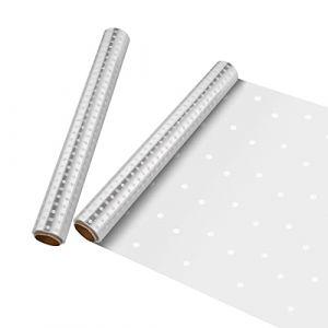 NUOBESTY Enveloppe de Cellophane Taille 40 X 3000 Cm Dépaisseur Claire 2. 5 Mil Papier Demballage de Cellophane Sacs de Cellophane Rouleaux Demballage pour Les Boutiques Fleuriste, 2 Rouleau (Camplos, neuf)