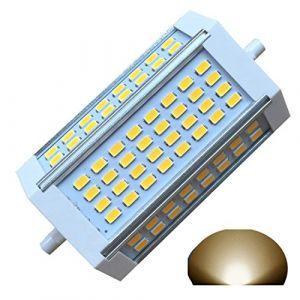 Ampoule à intensité variable LED R7s J118118mm 30W Lumière chaude 3000K 220V AC 3000 lm à double extrémité J Projecteur LED pour R7s 200W 300W 400W halogène de remplacement (Qleeteck, neuf)