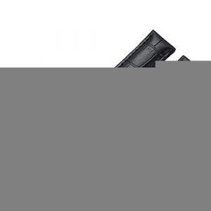 WSLCN Bracelet De Montre en Cuir Véritable Vintage Rétro Bracelet Montre de Grain Bande à Dégagement Rapide pour Homme Femme Noir 14mm (light-in-the-dark, neuf)